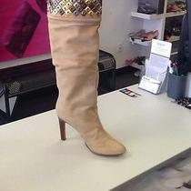 Designer - Roberto Cavalli  Tall Suede Boot W/copper Design Photo