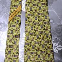 Designer Salvatore Ferragamo Drum Novelty Olive Green Silk Tie Necktie Nwt Photo