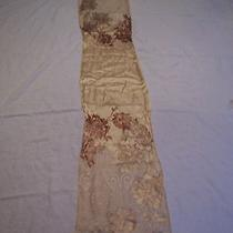 Designer Scarf by Ellen Tracy  Satin Like Cream and Beige New Photo