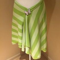 Designer Tiffany Alana Rare Green Stripe Sparkle Skirt One Size Photo