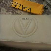 Designer Valentino by Mario Valentino Crossbody Purse Dove Lena Grey Clutch   Photo