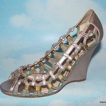 Designer Viktor & Rolf Pastel Metallic Wedge Sandals Venetian Design Italy Photo