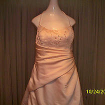 Designer Wedding Dress Maggie Sottero Blush Pink 16-18 Photo