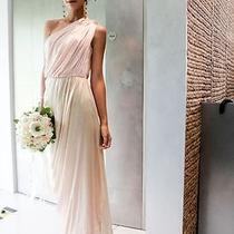 Dessy Collection Evening Long Dress Bridesmaid Blush Color Size 10 Fits Size 8  Photo