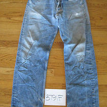 Destroyed Feathered Grunge Levis 501 Jean Meas 33x30 3791f Photo