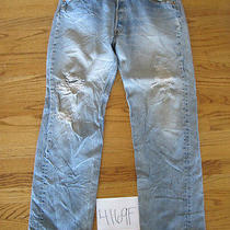 Destroyed Levi 501 Grunge Feathered Jean Tag 36x30 4169f Photo