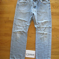 Destroyed Levi Feather 501 Grunge Jean 38x30 Meas 37x30 12494f Photo
