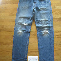 Destroyed Levi Feather 501 Grunge Jean No Tag Meas 36x35 12082f Photo