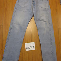 Destroyed Levi Feathered 501 Grunge Jean Tag 38x36 Meas 35x34.5 16685f Photo