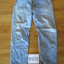 Destroyed Levis 501 Feathered Grunge Jean Tag 36x30 4414f Photo