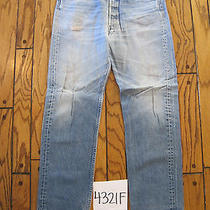 Destroyed Levis 501 Feathered Grunge Jean Tag 36x34 4321f Photo