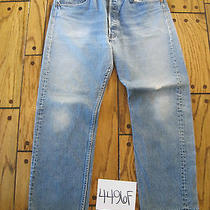 Destroyed Levis 501 Feathered Grunge Jean Tag 38x32 4496f Photo
