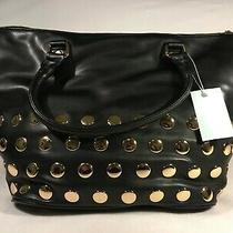 Deux Lux Black Leather Studded Tote Brand New With Tag 140.00 Msrp Photo