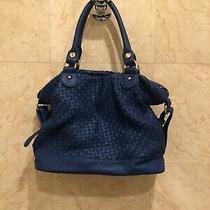 Deux Lux  Blue Woven Vegan Leather Handbag Cross Body/ Messenger Bag New Photo