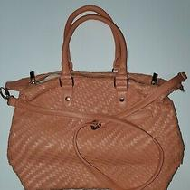Deux Lux Pink/coral Woven Handbag Shoulder Bag Crossbody Tote. Photo