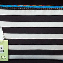 Deux Lux Striped Canvas Zip Pouch Wristlet W/storage Bag - Bnwt (Saks Off 5th) Photo