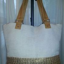 Deux Lux Tote Large Bag Dl 61364 Nwt Gold Photo