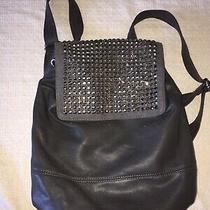 Deux Lux Women's Black Studded Backpack Bag Photo