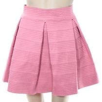 Devlin New Pink Rose Blush Women Size Large L a-Line Textured Skirt 88 571 Deal Photo