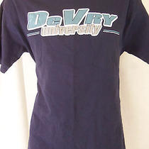 Devry University College Blue M Medium T Shirt  Photo