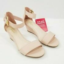 Dexflex Comfort Wedge Sandal Shoes Paige Women Size 5 Blush Open Toe Ankle Strap Photo