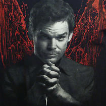 Dexter Michael C. Hall Serial Killer Blood Angel Wings Knife Black M Tv T-Shirt Photo
