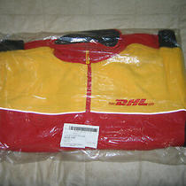 Dhl Express New Xl Vintage Full-Zip Fleece Jacket New Yellow Red Black New Photo