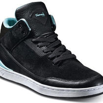 Diamond Supply Footwear Marquise Black/aqua Leather Shoes Size 6.5 Photo