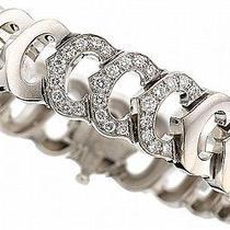 Diamond White Gold Bracelet Cartier Lot 54061 Photo