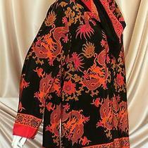 Diane Von Furstenberg 100% Silk Blouse & Scarf 2pc Lot Set Large Xl Retro 1970s  Photo