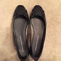 Diane Von Furstenberg Black Patent Leather Ballet Flats Size 6 Photo