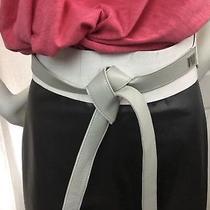 Diane Von Furstenberg Cream Leather Cork Wrap Wide Belt Small Photo