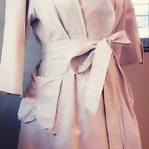 Diane Von Furstenberg Dvf Silk Tan Trench Coat Wrap Dress Size 4 Photo