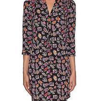 Diane Von Furstenberg Freya Stretch Silk Shirt Dress in Vintage Gypsy Fleur  10 Photo