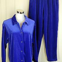 Diane Von Furstenberg L Gorgeous Stretch Velvet Jacket & Pants Set  Photo