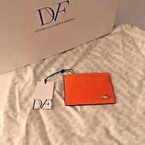 Diane Von Furstenberg Love Tuxedo Card Case  - Shocking Orange Photo
