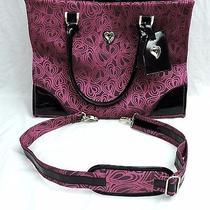 Diane Von Furstenberg Luggage Purple Bag Large Hearts Messenger Hobo Photo