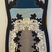 Diane Von Furstenberg Navy Short-Sleeved Dress Excellent Condition (Medium) Photo