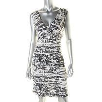 Diane Von Furstenberg New Parker White Silk Jersey Wear to Work Dress 12 Bhfo Photo