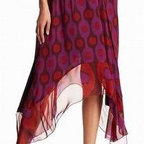 Diane Von Furstenberg New Purple Womens Size Large L Asymmetrical Skirt 328 760 Photo