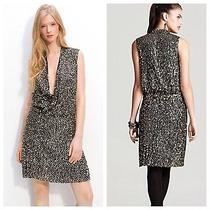 Diane Von Furstenberg Nwt Sexy Issie Cleavage Sequins Wrap Cocktail Dress 6 595 Photo