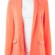 Diane Von Furstenberg Orange Blazer Sz 4 650180 Photo