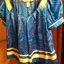 Diane Von Furstenberg Silk Blouse Size 2 Photo