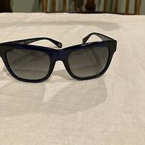 Diane Von Furstenberg Sunglasses Navy With Stud on Side Photo