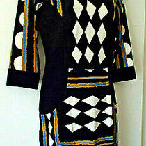 Diane Von Furstenberg Sz 4 Silk Dress Black Multi Photo