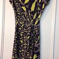 Diane Von Furstenberg Vintage Dress Neon Animal Pattern Size 2 Photo