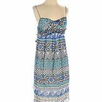 Diane Von Furstenberg Women Blue Casual Dress 2 Photo