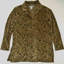 Diane Von Furstenberg Women's Shirt Brown Button Up Tunic Style Medium Photo