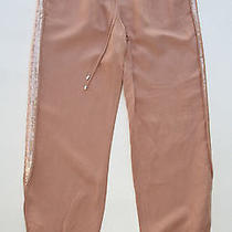 Diane Von Furstenberg Womens 4 Peach Bluff Kamaris Emb Linen Sequin Pants Nwt Photo
