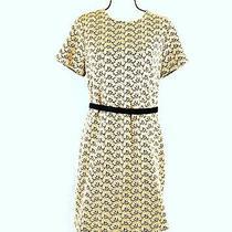 Diane Von Furstenberg Womens a-Line Lace Mini Dress With Belt Size 12 Photo